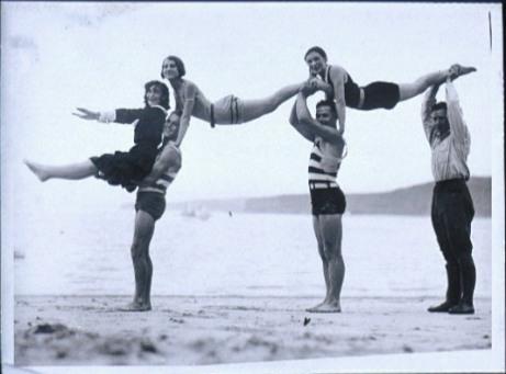 Beach Acrobatics, circa 1920, Australian National Maritime Museum