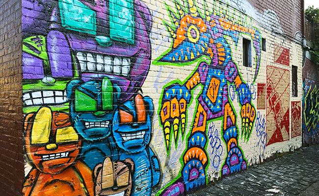 Vandals target street art in fitzroy